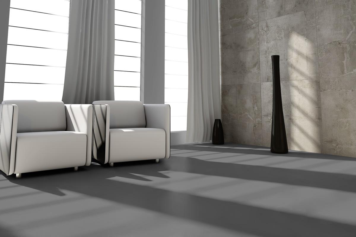 Komplett-Set VisioGrande Laminat Autentico Fliese Granit Schwarz 8 mm