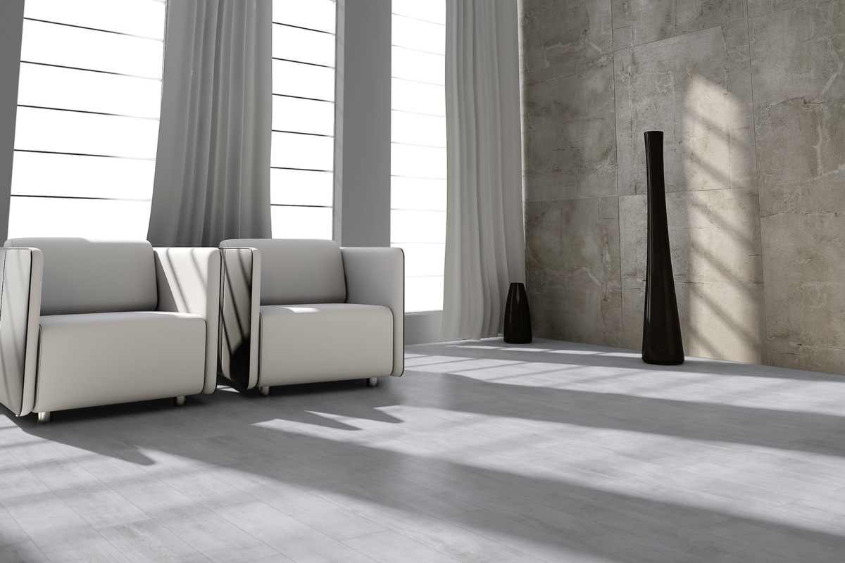 Komplett-Set Sono Pro Forest Designboden Landhausdiele Vanity White PVC-frei 4,5 mm