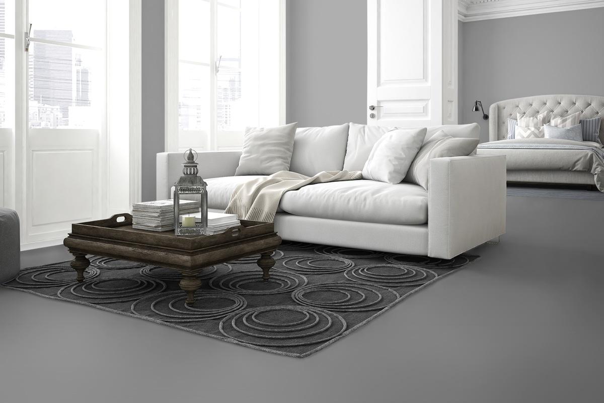 Komplett-Set VisioGrande Laminat Autentico Fliese Granit Weiss 8 mm