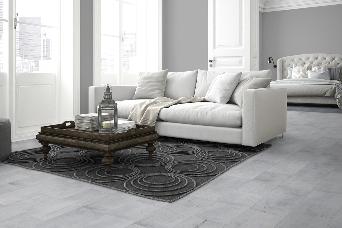 Komplett-Set Sono Pro Landscape Designboden Fliese Old Manor PVC-frei 4,5 mm
