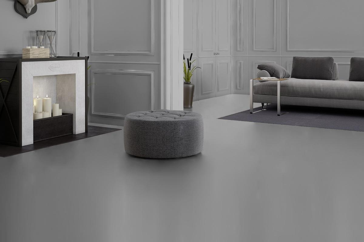 Komplett-Set NEO 2.0 Designboden Fliese Silvergrey Concrete PVC-frei 4,5 mm