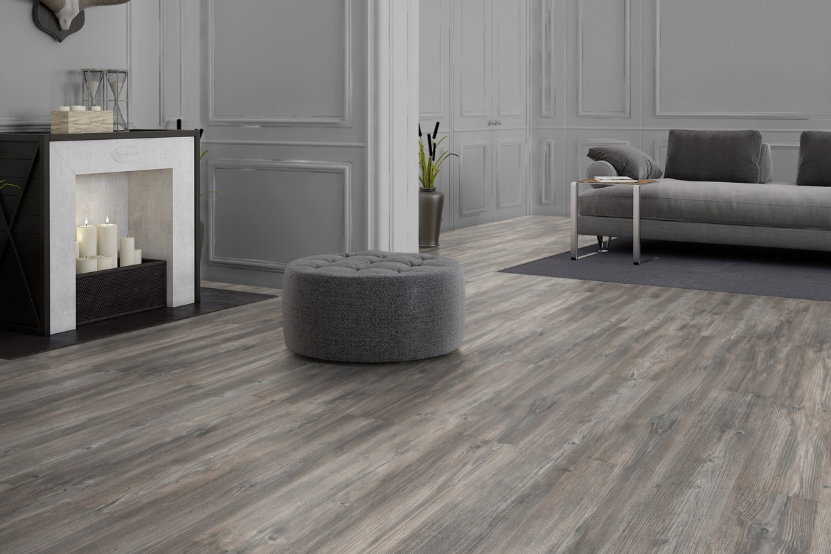 Komplett-Set FLOOR24 Laminat Landhausdiele 4V Canyon Lodge Struktur 7 mm