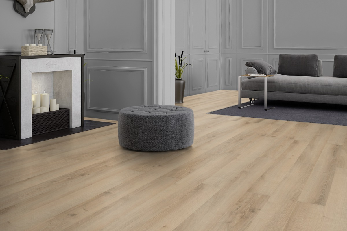FLOOR24 Laminat Landhausdiele 4V Taiga Oak XL 8 mm
