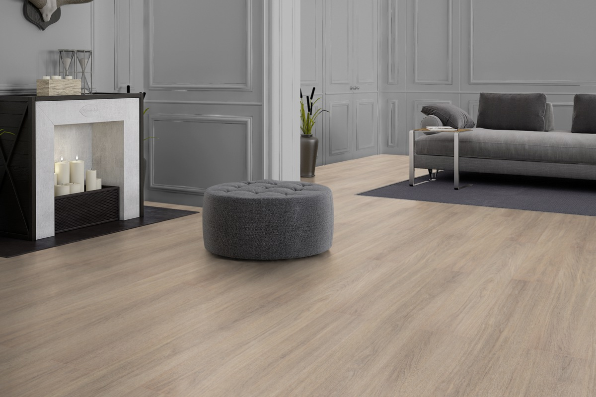 FLOOR24 Laminat Landhausdiele 4V Real. May. Oak brown 7 mm